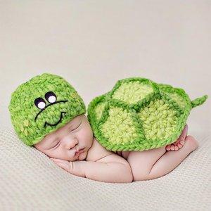 Bebê recém-nascido Roupa para meninas Meninos Crochet Knit Costume Foto Fotografia Prop Acessórios bebê Caps Chapéus roupa de menino