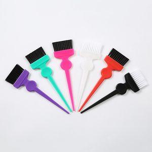 6 Farbhaarbürste Friseurbürsten Kamm Salon Haarfarbe Farbstoff Tint Tool Kit Neue Großhandel