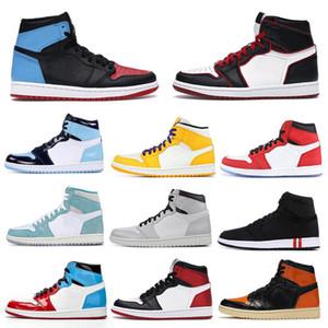 Nike Air Max Retro Jordan Shoes Erkek 1 basketbol Ayakkabılar 1s NRG bukalemun gölge NakeskinÜrdünRetro ayak fil baskı Chicago kraliyet Kulvar sneakrs eğitmenler