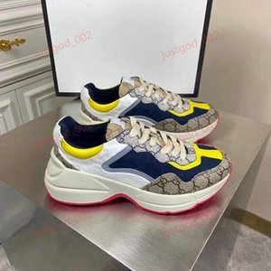 Gucci Platform shoes G Sneakers lusso progettista calçados casuais da plataforma para Homens Mulheres Lace Up instrutor Napa Sports sapatos de couro fundo de borracha cor de rosa