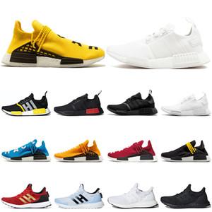 Adidas nmd R1 human race shoes  Белые мужчины кроссовки роскошные Япония Тройной белый черный три-Серый весь красный синий белый Спортивная обувь мужские женские кроссовки
