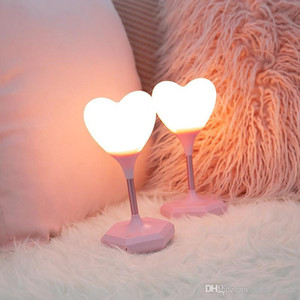 Love Heart LED Table Light USB Charging Brightness Adjustable Touch Night Lamp For Kids Bedroom Room New Year Decoration