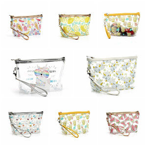 Waterproof Transparent Cosmetic Cute Bags Storage Pouch Makeup Organizer Approved Clear Case Toiletry Bag PVC Zipper Travel Free Shipping