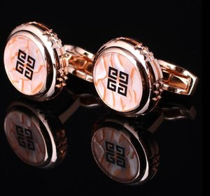 New fashion Round Cufflinks 4 colors Golden-Silver-Rose gold-Black Shirt Cufflinks Cuff Buttons High Quality For Men Jewelry