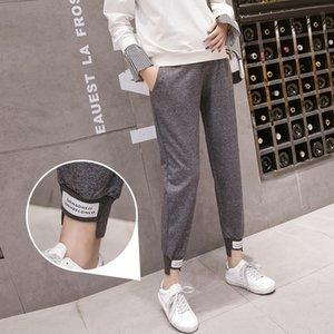 Esportes Casual Pants Belly cintura elástica Calças Maternidade roupas de grávida para grávidas Maternidade Mulheres Harem Primavera