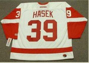 Benutzerdefinierte Männer Jugend Frauen Jahrgang # 39 Dominik Hašek Detroit Red Wings 2002 CCM Hockey-Jersey-Größe S-5XL oder benutzerdefinierten beliebigen Namen oder Nummer