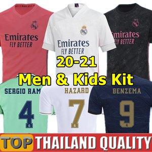20 21 لكرة القدم بالقميص أخطار ريال مدريد 2020 يوفيتش BENZEMA قميص كرة القدم تعيين 2020 VINICIUS RODRYGO مودريتش الرجال النساء الأطفال مجموعة ملابس