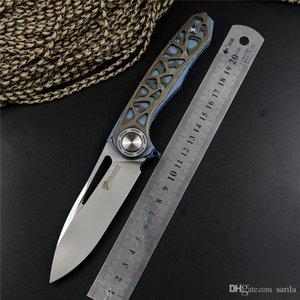 New harpon VENOM couteaux M390 lame de pliage de l'acier, du titane ou de chasse Hollowed de poignée en fibre de carbone de pêche Couteau de poche avec gaine et tor