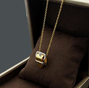 Belt buckle Necklace women's foreign trade Necklace