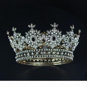 K Snuoy Vintage Royal Queen Crown For Women Pageant Hair Ornaments Wedding Hair Accessories Bridal Tiara Headpieces Coroa De Noiva C181