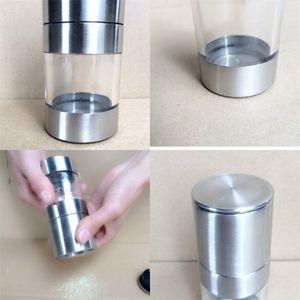 Chicchi di caffè Abrader Manuale Herb Hyaline Glass Grinder in acciaio inossidabile Mill Salt Cumino aromatizzanti Bottiglia Spice 9 staccabili 8kd C2