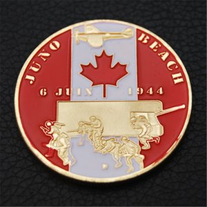 JUNO BEACH D-DAY 2ND INFANTRY DIVISION 6TH JUNE 1944 CANADIAN MILITARY COIN Free Shipping 50pcs lot