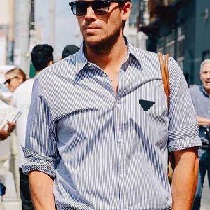 2020 Männer Paar gestreifte T-Shirt Damen Sommer und Herbst arbeitet Stickerei-T-Shirt mit langen Ärmeln Spitze