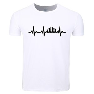 Asian Size Men Women Print Chess Heart Beat Pulse Game Board Pieces T-shirt O-Neck Short Sleeves Summer Casual Tshirt