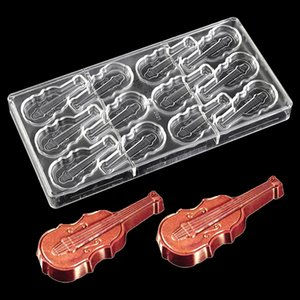 DIY Guitar Polycarbonate Chocolate Mold Plastic Violin Choco Cake Mould Candy Pudding Craft Baking kitchen Accessories