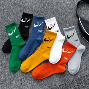 Combinando carta de basquete cor e meias novas basquete esportes NK algodão de lazer de alta barril dos homens meias moda