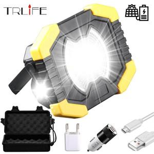 20W Güneş Işığı Taşınabilir Çalışma Spotlignt Dahili 2400mAh Kamp Işık Fener USB Şarj edilebilir COB LED Searchlight