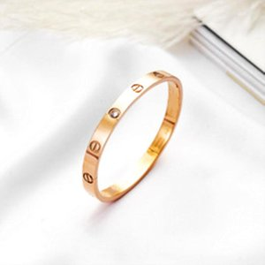 2020 Fashion New rose gold 316L stainless steel screw bangle bracelet with screwdriver and original box never lose snap jewelry wholesale