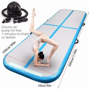 Free Shipping 3m Inflatable Cheap Gymnastics Mattress Gym Tumble Airtrack Floor Tumbling Air Track For Sale vTaq#