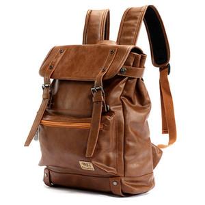 Three box Leather Men Backpack Women Korean Backpack Male Travel Casual Daypacks For Teenagers Back Pack Bagpack