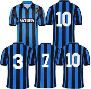 1988 1989 Brehme Bergomi Matthaus retrò maglia da calcio Inter 88 89 Berti Zenga Serena Klinsmann epoca maglia da calcio classico