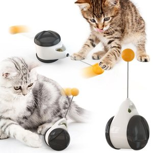 Cat Toy Interactive with Wheels Smart Rolling Ball Automatic Pet Cat Funny Toy with Pole Cat Supplies Free Shipping