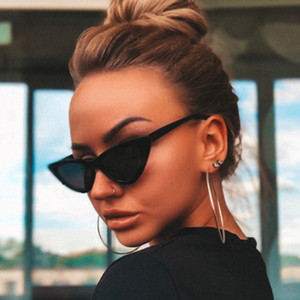 2019 Fashion Cat Eye Sunglasses Women Vintage Piccole Sunglases UV400 nero Shades Retro Cateye lunette de soleil femme Oculos