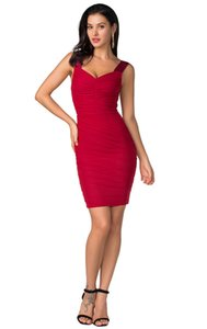 Women New Bandage Dress Sexy Red Black Pink Backless Sleeveless Summer Celebrity Runway Party Club Dresses