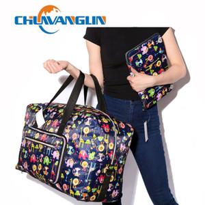 Chuwanglin Reisetasche Frauen Große Kapazitäts-bewegliche Schulter Duffle Bag Karikatur-Drucken Wasserdicht Wochenende Gepäck Tote A0091 CX200718