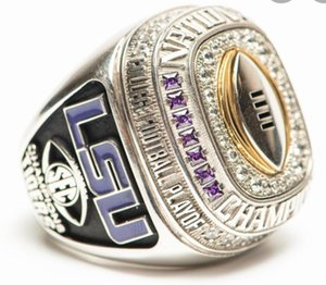 LSU 2019 2020 Geaux Tigers National Orgeron College Football Playoff SEC Team Champions Championship Ring Fan Men Gift Wholesale