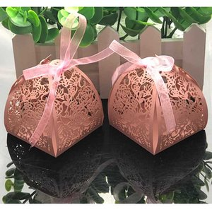 10pcs Laser Cut Flower Wedding Candy Box Wedding Gift Box For Guest Favors And Gifts Christmas Birthday Party Decoration