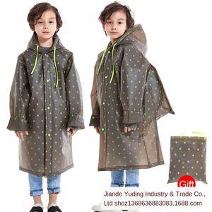 Sırt çantası boysand girlskindergarten studentsraincoat Cloak ile 0V2XS Çocuk panço Vücut giysi beden clothesEVA açık çocuk giyim