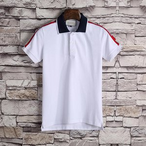 2019 designer striped polo shirt T-shirt snake Polos bee floral embroidery men's high street fashion polo T-shirt