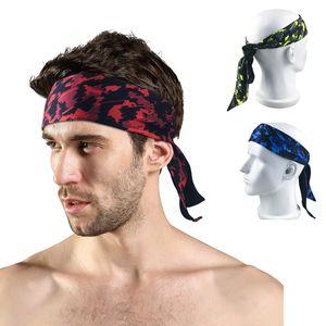 Unisex Sports Tafilete Elastic Sweat Hairband Outdoor Runing Esporte Headband Amarrado Banda de Fitness