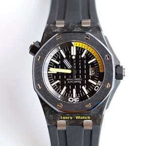 Best Edition Offshore Series 15706AU.OO.A002CA.01 Carbon Fiber Case A2836-2 Automatic Mens Watch Date Dial Rubber Strap Designer Watches