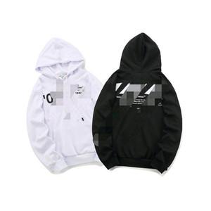 OFF slash deceleration belt hoodie male OW loose sports casual hoodie sweater men and women