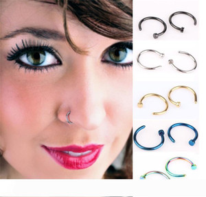 Nose Rings Body Piercing Fashion Jewelry Stainless Steel Nose Hoop Ring Earring Studs Fake Nose Rings Non Piercing Rings Party Party Favor