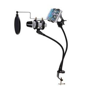 Freeshipping 360 gradi per microfono Sospensione braccio dell'asta basamento del Monte MV Stent per 3.5-6 '' telefono mobile di alta qualità