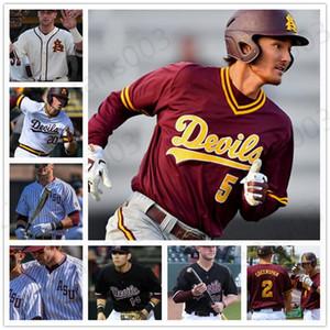 Özel ASU Arizona State College Baseball Trevor Hauver Nick Cheema RJ Dabovich Seth Tomczak Sam Ferri Nathan Baez Jersey dikişli