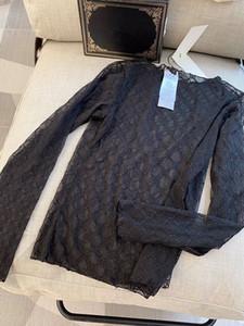 Elegante Spitze Bluse Frauen Langarm-Shirt Stickerei weiblich sexy Bluse Transparent elegant Tees aushöhlen Tops