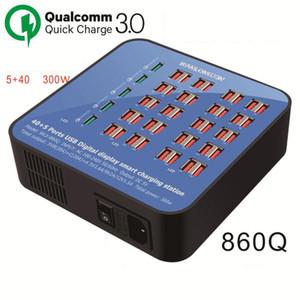 45 porti Hub USB stazione di ricarica intelligenti Multi Port velocità del caricatore del bacino della parete del caricatore con 5 QC 3.0 porte Fast Charger