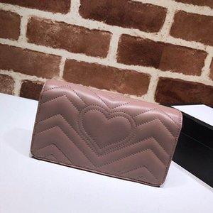 حار بيع الأزياء الشهيرة العلامة التجارية طويلة الإناث البسيطة حقيبة الكتف جودة عالية الحشرات الصفصاف مسمار محفظة الحب سيارة خياطة حقيبة فاخرة 488426