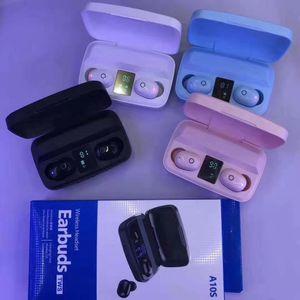 A10S Tws Ecouteur Bluetooth 5.0 contrôle tactile casque puissance d'affichage stéréo sans fil Oreillettes Casque 1800mAh Support pour téléphone de charge