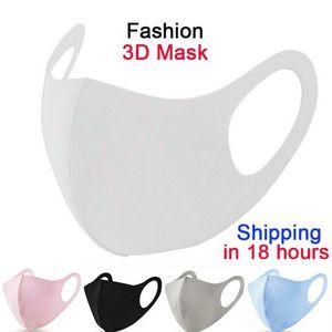 Mund Ice Waschbar Gesichtsmaske Einzelne Schwarz Geschenk-Paket Staub PM25 Respirator Staubdichtes Wiederverwendbare Seide Baumwolle newclipper bkIDg