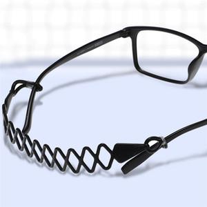 % 100 Silikon Siyah Elastik Gözlükler Halat Kaymaz Spor Gözlük Gözlük Kordon Boyun askısı Gözlük Aksesuarları 100pcs / lot