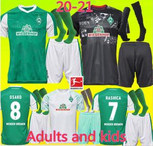 figli adulti + calzino 20 21 SV Werder Bremen terze maglie di calcio 2019 2020 2021 nero KLAASSEN Füllkrug BITTENCOURT RASHICA PIZARRO Calcio