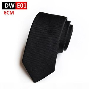 D Fashion Hot Sale Silk Classic Skinny 6cm Men Neck Ties Casual Wear Business Wedding Party Solid Neckties For Men