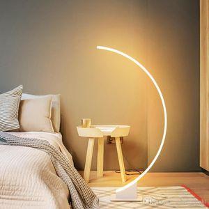 Basit, modern, yaratıcı kişilik oda açtı göz koruması zemin lamba yaşayan led kısılabilir zemin lamba masa lambası yatak odası yatak açtı
