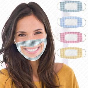 видимый рот лица обложка полного защитных масок для лица маски для лица дизайнера плед камуфляж четких маски заплатки для глухого немого глухонемого D72802