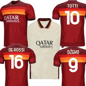 2021 AS DE ROSSI DZEKO PEROTTI PASTORE Mens Fußball-Trikot rom TOTTI Jersey-Fußballhemd ZANIOLO maillot de foot roma Uniformen 20 21
